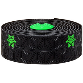 Supacaz Super Sticky Kush Starfade Handlebar Tape, neon green print